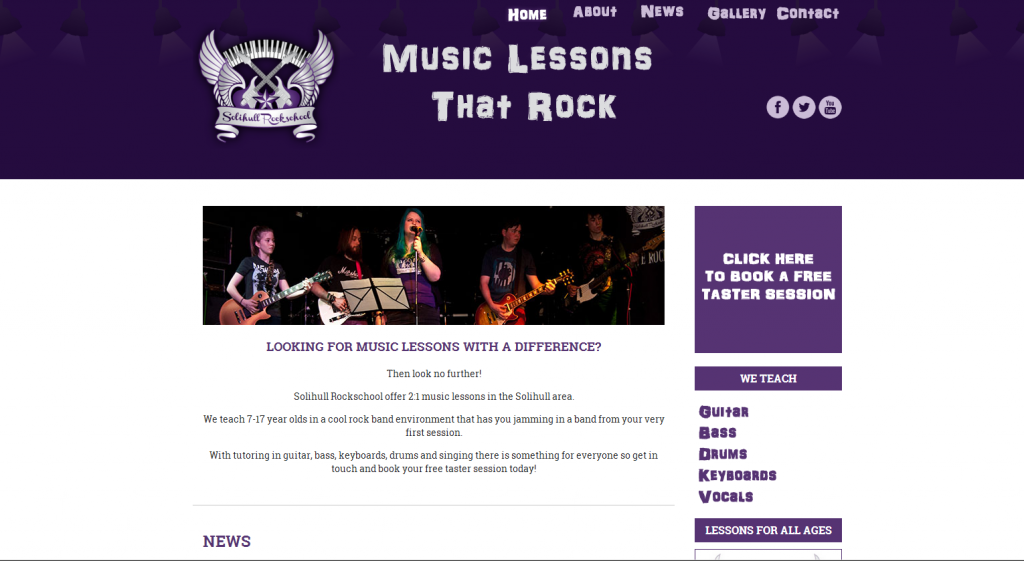Solihull Rockschool Website