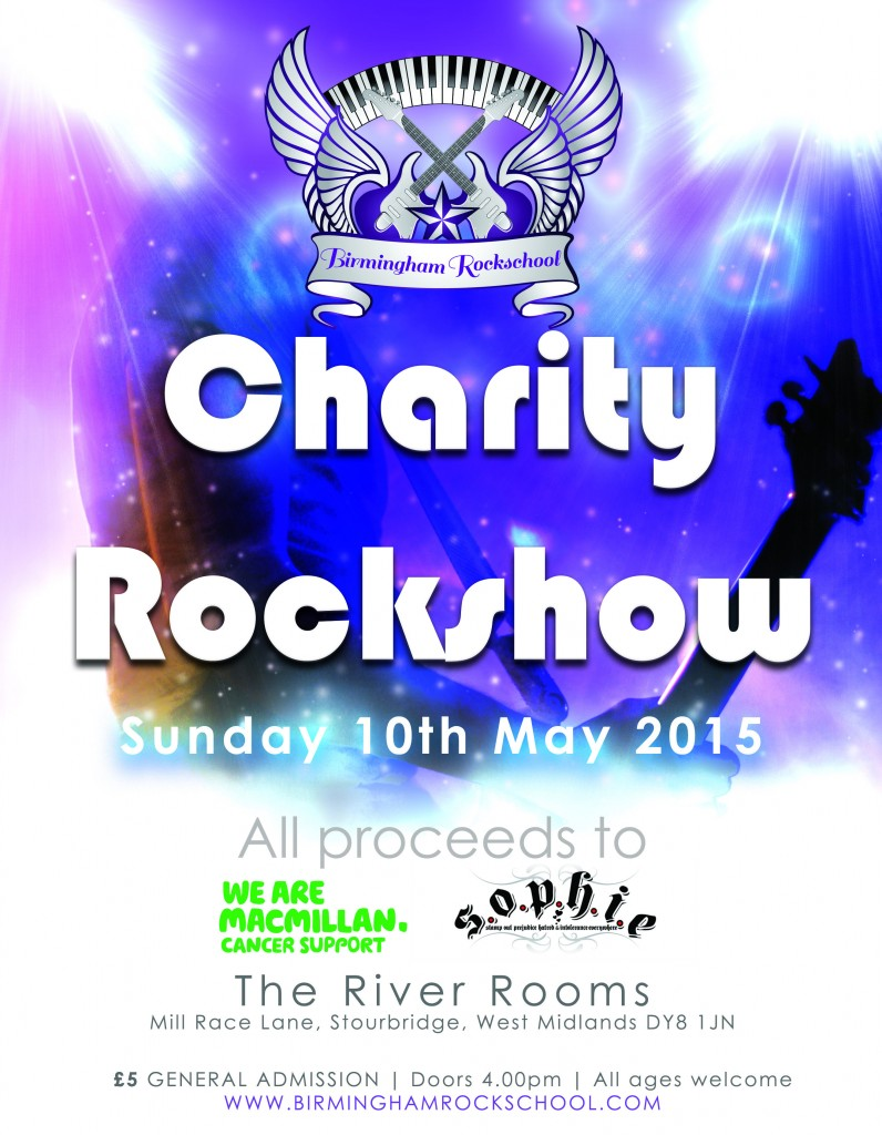 Charity Rockshow Poster 2015