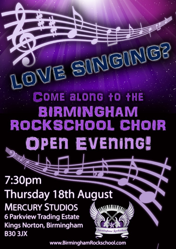 Choir Open Evening Poster