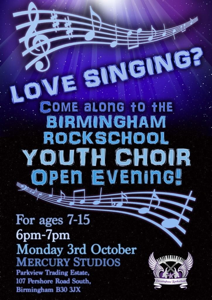 Youth Choir Open Evening Poster