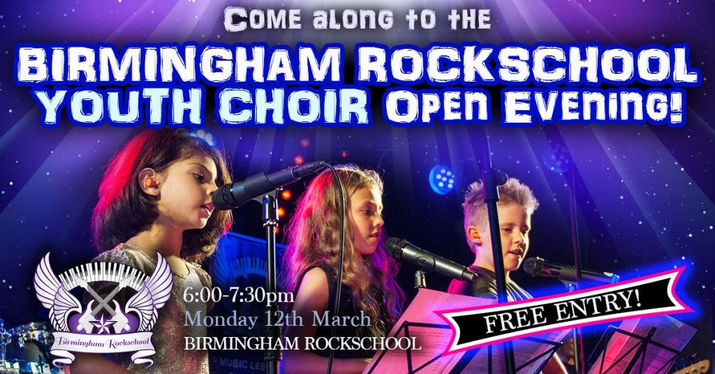 2018 Youth Choir Open Evening Event Header