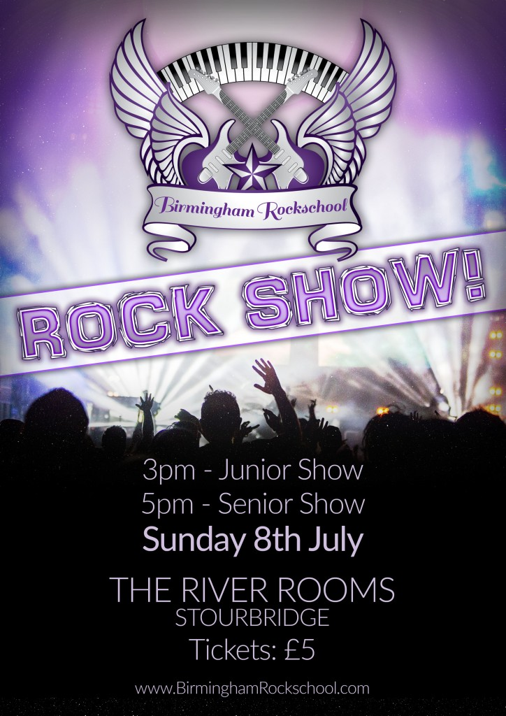 2018 birmingham rockschool rock schow poster
