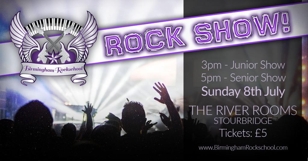 2018 birmingham rockschool rock show header