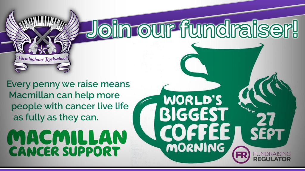 Macmillan Coffee Morning 2019 Header